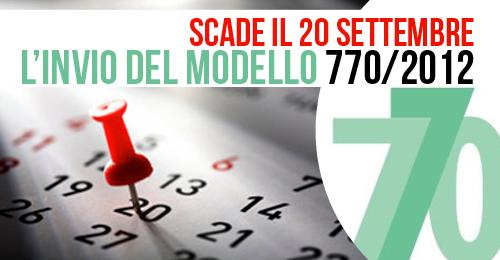 Scade il prossimo 20 settembre l invio del modello 770 for Scadenza modello 770