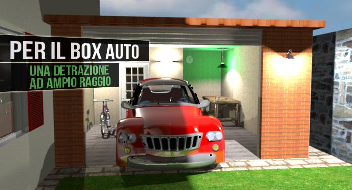 Per il box auto una detrazione ad ampio raggio fisco 7 for Ampio garage per auto