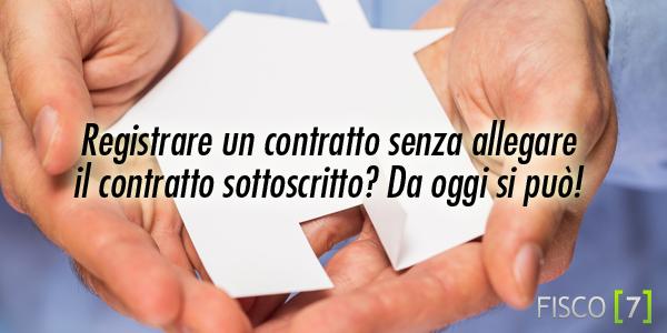 Come registrare il contratto di locazione autos weblog for Affitto senza contratto