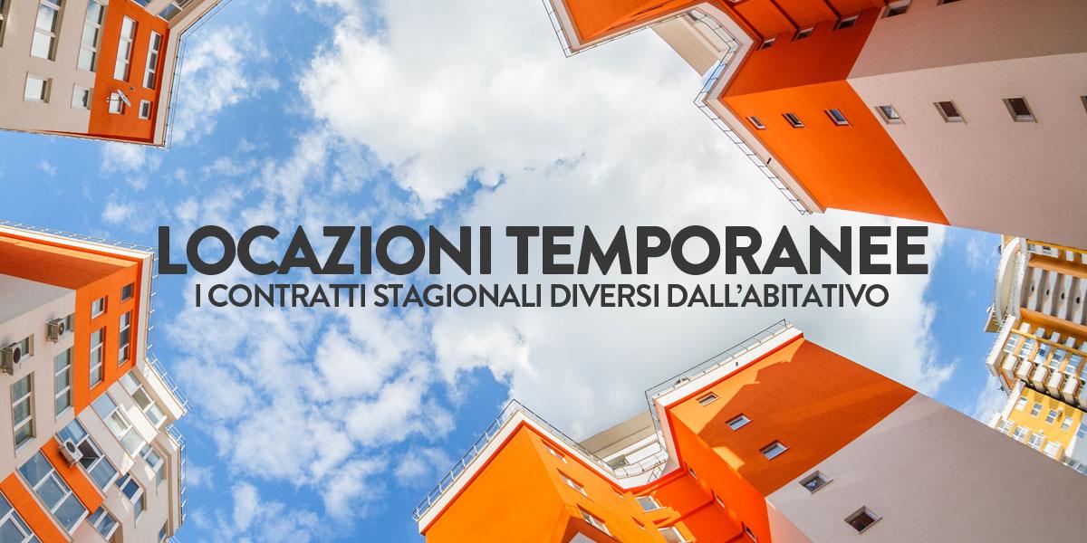 Locazioni temporanee i contratti stagionali diversi dall for Contratto di locazione ad uso abitativo di natura transitoria