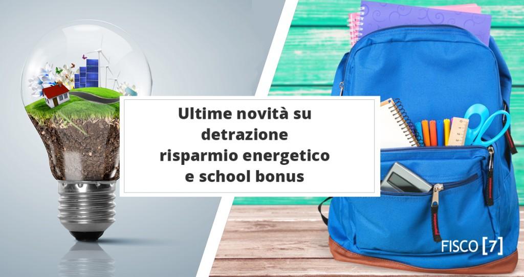 Ultime novit su detrazione risparmio energetico e school for Agenzia delle entrate risparmio energetico