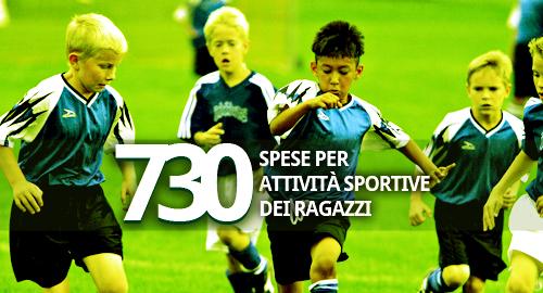 730 spese per attivit sportive praticate dai ragazzi for Spese deducibili 730