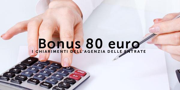 Bonus 80 euro i chiarimenti dell agenzia delle entrate for Bonus arredi agenzia entrate